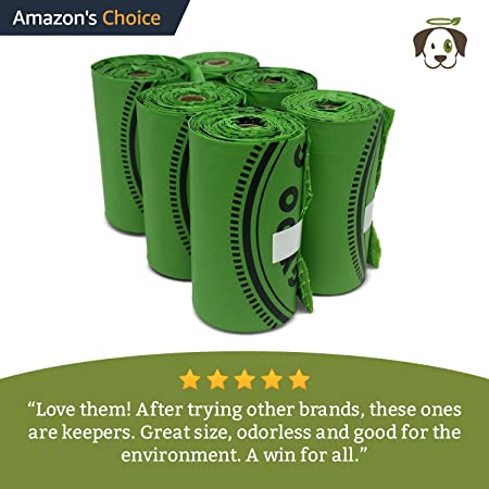 Biodegradable Poop Bags | Dog Waste Bags, Unscented, Vegetable-Based & Eco-Friendly, Premium Thickness & Leak Proof, Easy Detach & Open, Supports ...