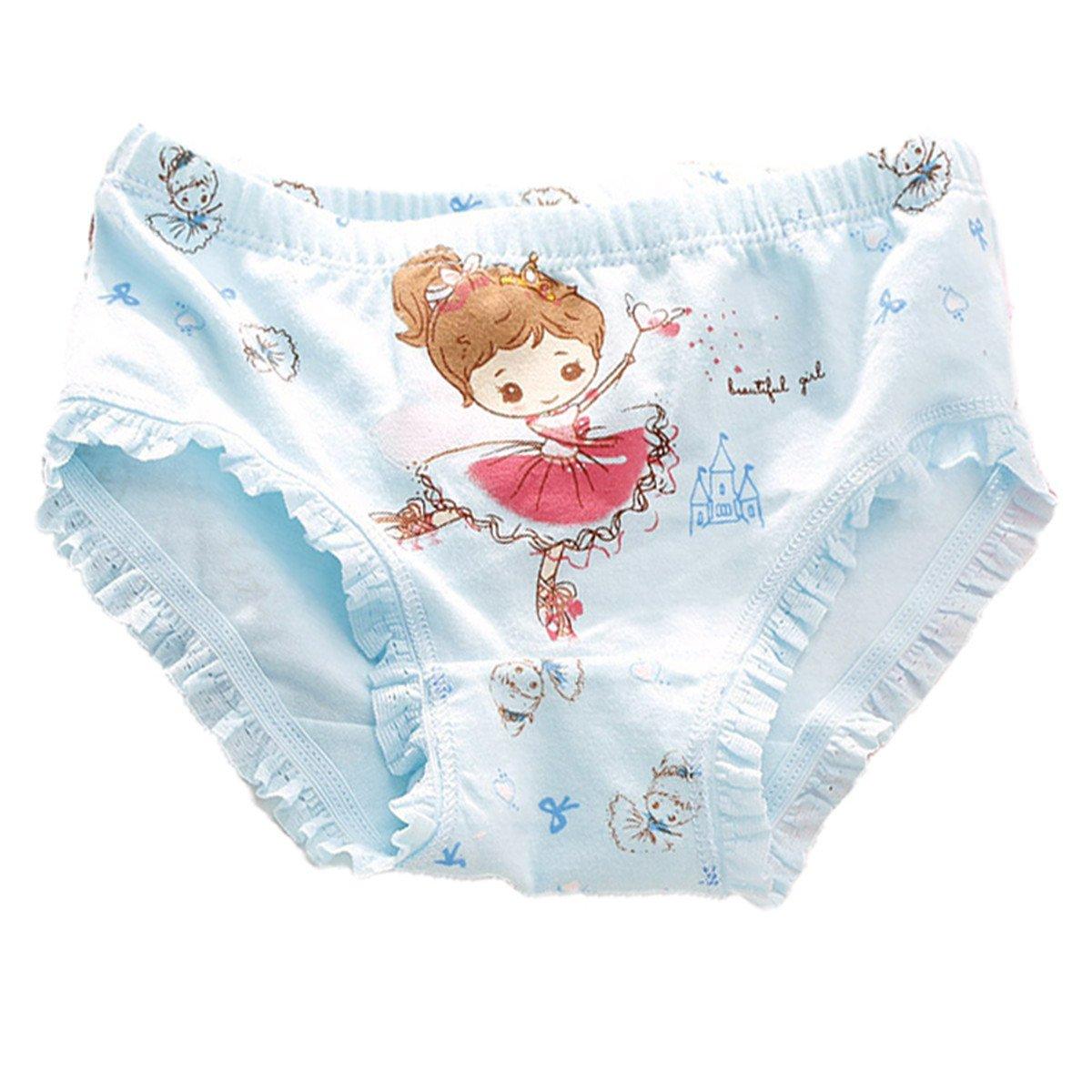 FAIRYRAIN 4 Packung Baby Kleinkind M/ädchen Ballett Prinzessin Pantys Hipster Shorts Spitze Baumwollunterhosen Unterw/äsche