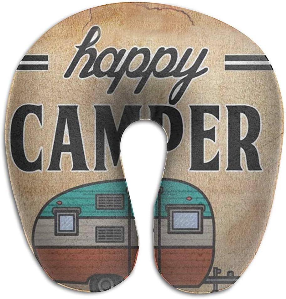 NAN TIAO Almohada de Viaje para niños y Adultos, Soporte de Cuello Ultra Suave Happy Camping, cojín de Siesta en Forma de U, Almohada de diseño único y de Moda para A