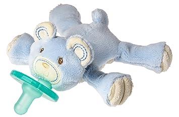 Wubbanub Thready Teddy Pacifier, Blue (Discontinued by Manufacturer)