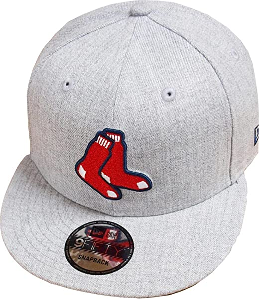 promo code f2828 55928 New Era Boston Red Sox Heather Grey MLB Snapback Cap 9fifty Limited  Edition  Amazon.ca  Clothing   Accessories