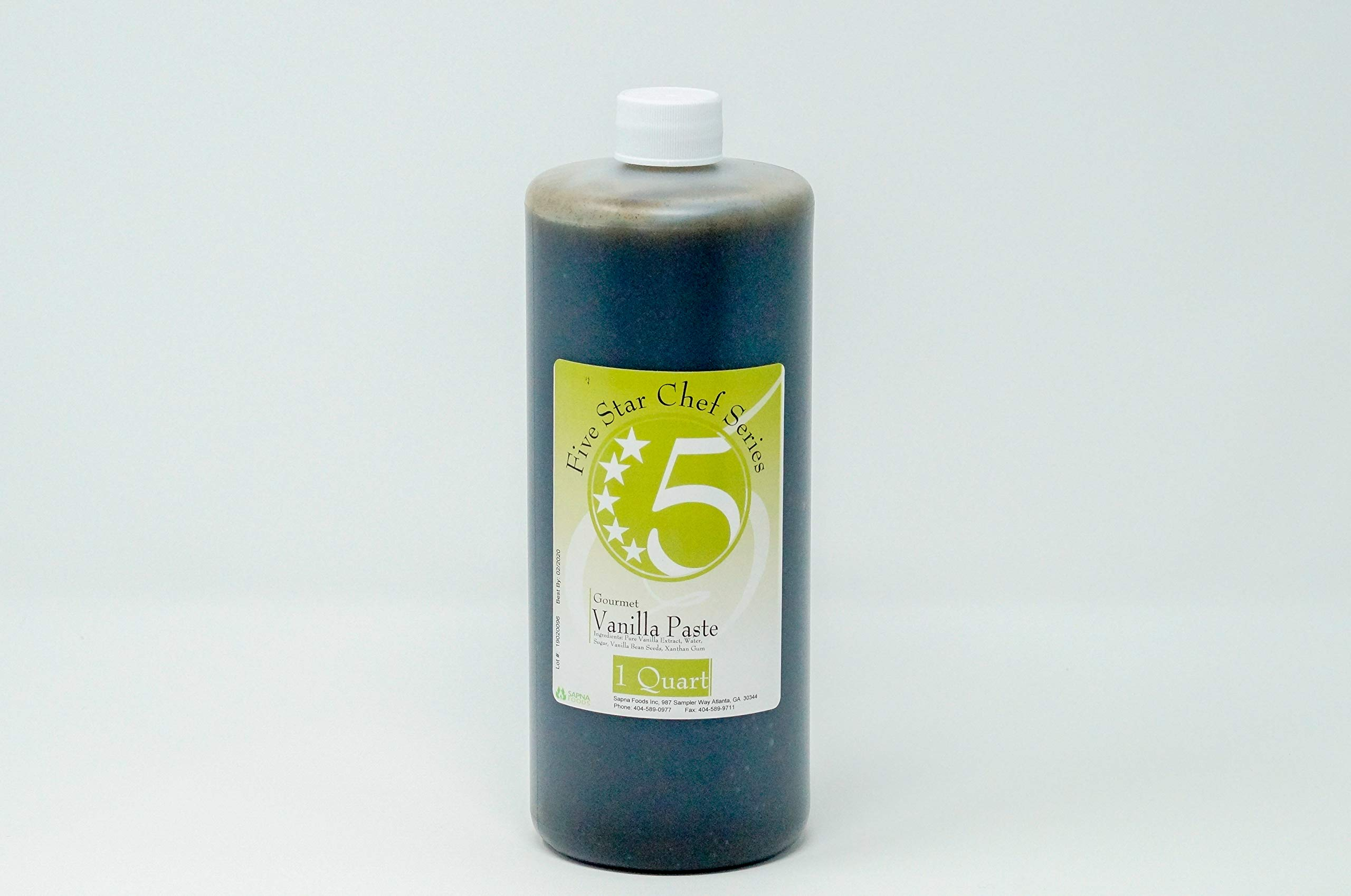 Five Star Chef Gourmet Vanilla Paste, 32 Fluid Ounce by Five STAR SUPPLY