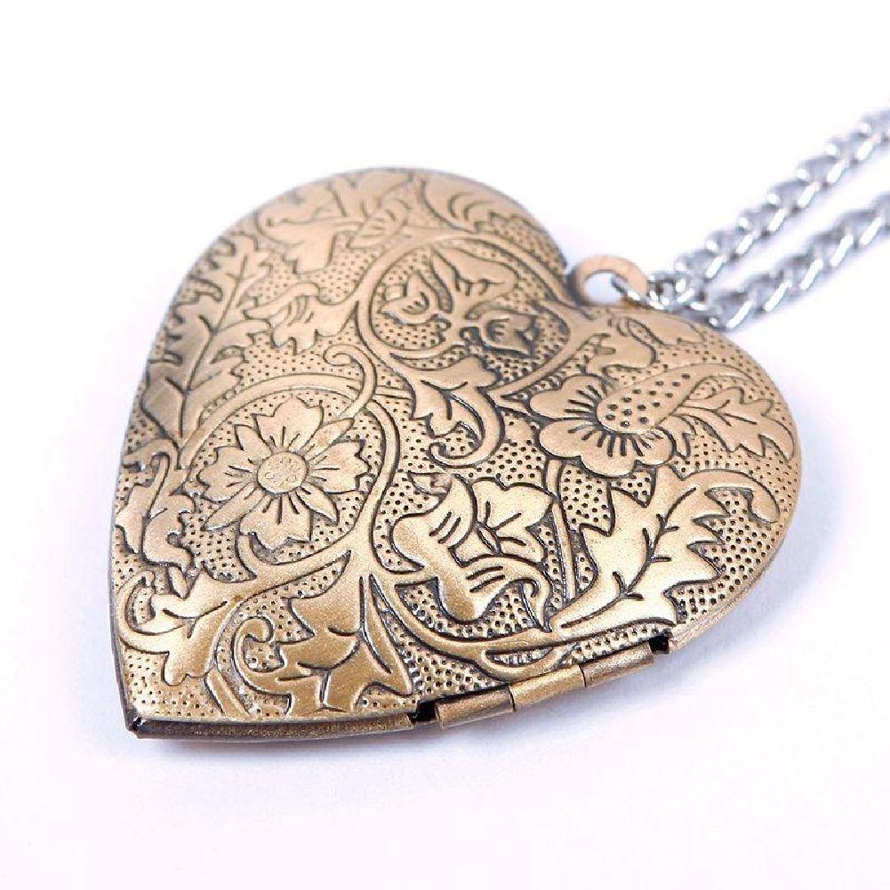 Amazon bronze heart friend photo picture frame locket pendant amazon bronze heart friend photo picture frame locket pendant chain necklace beauty aloadofball Gallery