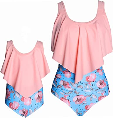 Mommy and Me Matching Swimsuits Family Matching Bathing Suit for Moms /& Toddlers