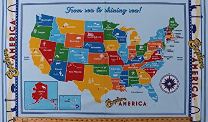 Map Of United State Of America.Amazon Com 23 5 X 44 Panel United States Of America