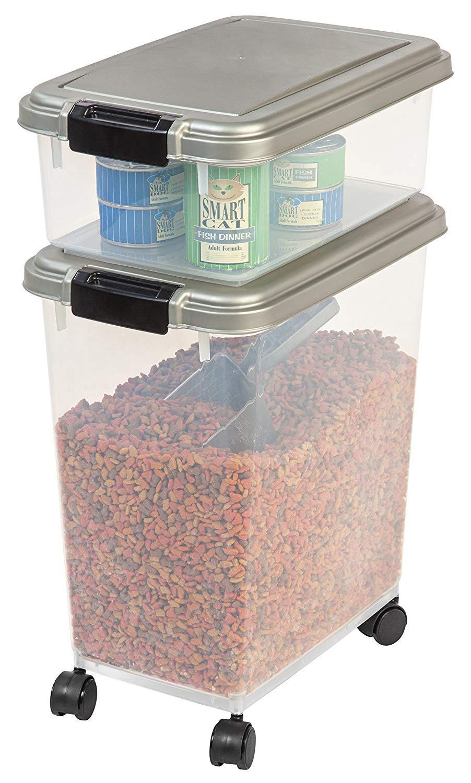 IRIS 3-Piece Airtight Pet Food Container Combo, Pack 2 by IRIS USA, Inc. (Image #4)