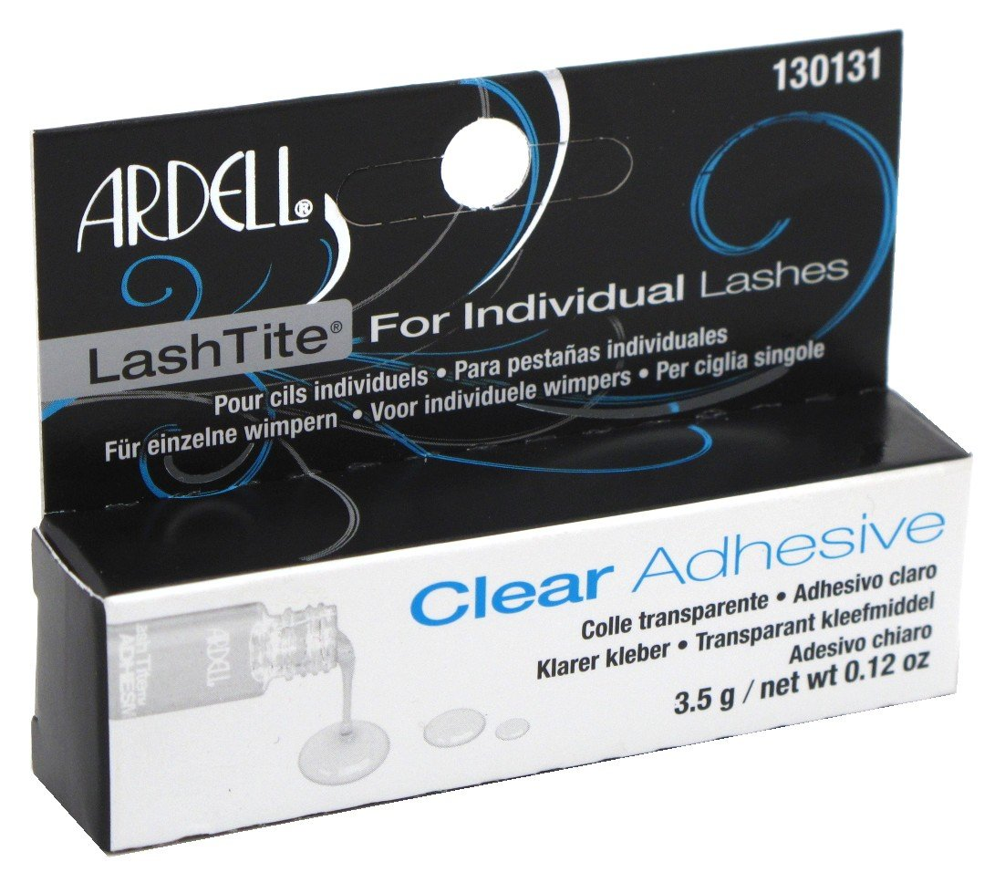 Ardell Lashtite Adhesive Clear 0.125 Ounce Bottle (Black Package) (3.7ml) (3 Pack)