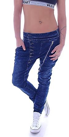 Damen Boyfriend Jeans Haremshose Baggy Hose Hüftjeans XS 34 S 36 M 38 L 40  XL 18e62ca4a9