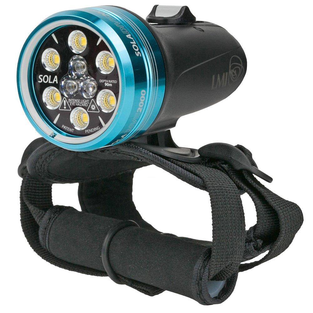 Light & Motion SOLA Dive 2000 S/F Black Underwater Light