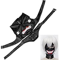 Tokyo ghoul kaneki ken masque Halloween cosplay Anime Costume Accessories en cuir réglable