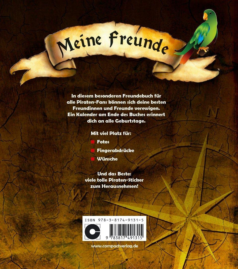 Meine Freunde: Piraten: Freundebuch Mit Stickern Für Piraten Fans:  Amazon.de: Bücher