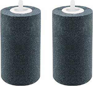 Waycreat 2Pcs 4 X 2-inch Large Air Stones Cylinder for Hydroponic Systems, Ponds, Aquarium, Fish Tank