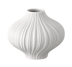 Rosenthal 13027-100102-26008 Plissée - Vaso in miniatura in porcellana, altezza 8 cm, colore: Bianco