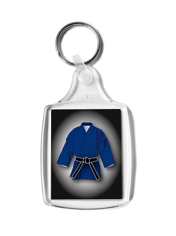 Cinturón negro regalo, Gi rectangular llavero, Karate, Kickboxing, Judo, Ju Jitsu, clasificación Pass regalo Purpleproducts