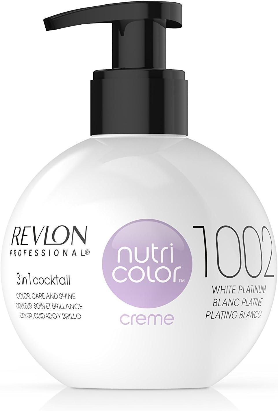 Revlon Nutri Color Creme Rubísimos, Tinte para el Cabello 1002 Platino Blanco - 270 ml