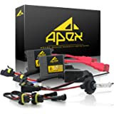 """Apex 9005 / HB3 Xenon Hid Conversion Kit ( 10k 10000k Deep Blue / Dark Blue ) with """" Exclusive Digital Ignitor Premium Ballasts """" Headlights Conversion Kit comes with Bulbs & Ballasts full HIDs Kits Bright Lights"""