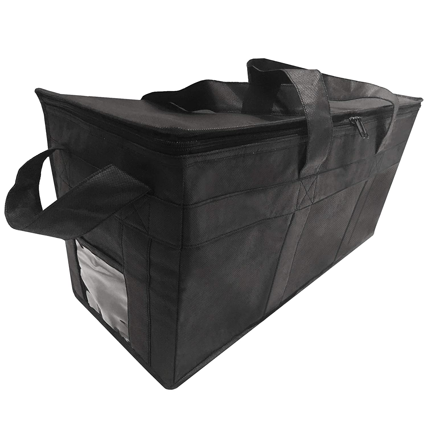 "Insulated Delivery Grocery Bag Carrier, 22"" X10"" X10"", Ideal for Uber Eats, Postmates, Doordash, Catering, and Grocery Shopping"