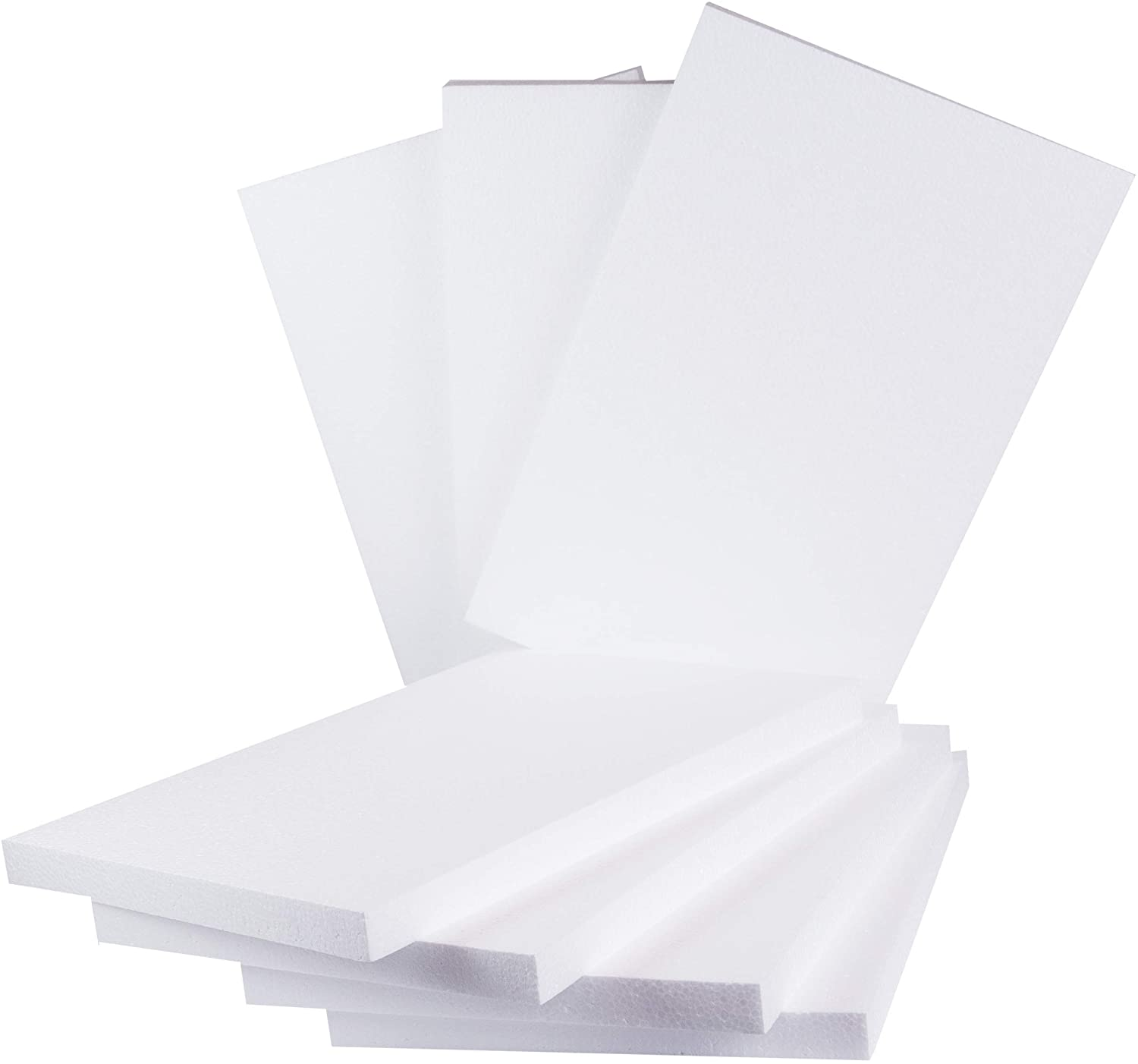 Silverlake Craft Foam Block - 7 Pack of 11x17x1 EPS Polystyrene Sheet for Crafting, Modeling, Art Projects and Floral Arrangements - Sculpting Panels for DIY School & Home Art Projects (7)