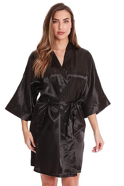 1090b202e0 Just Love Satin Robe for Women Kimono Robes at Amazon Women's ...