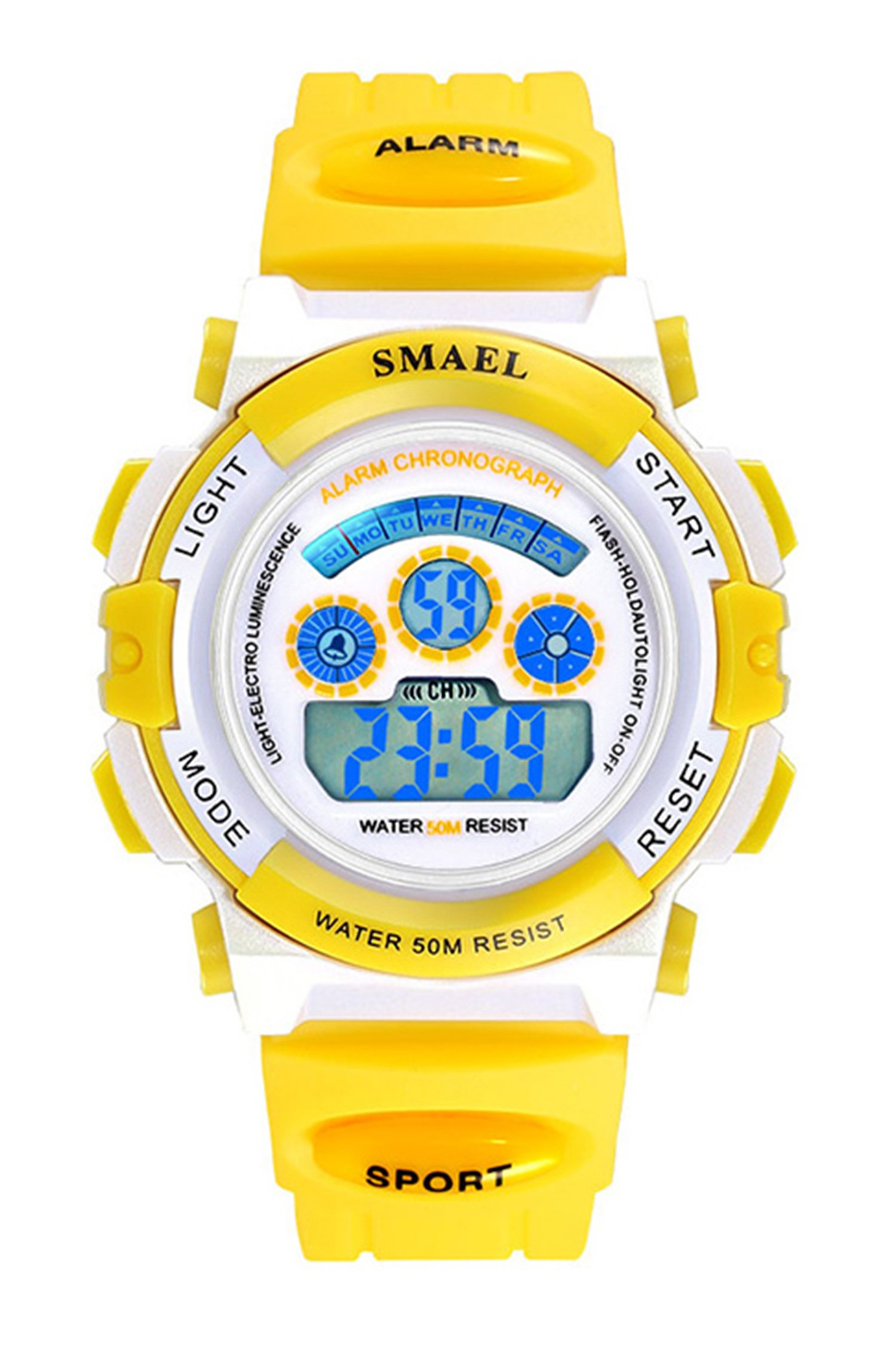 Kids Digital Watch Girls Sports Waterproof Wrist Watches with Alarm Stopwatch for Youth Childrens (yellow) by carlien
