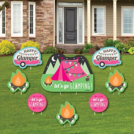 Amazon Com Big Dot Of Happiness Let S Go Glamping Yard Sign