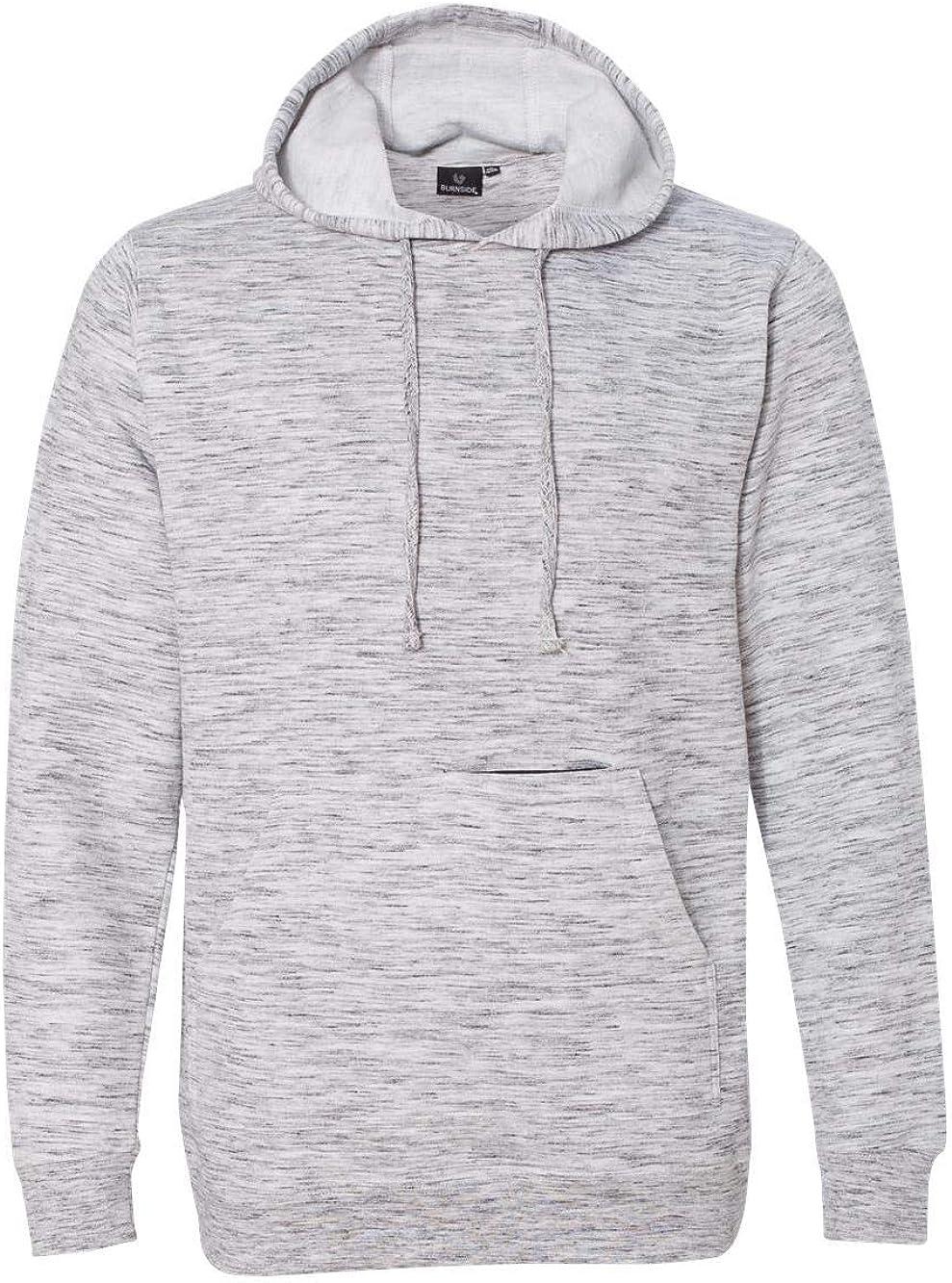 B8609 Burnside Injected Yarn Dyed Fleece Hooded Pullover Sweatshirt