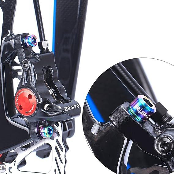 RISK 4pcs M6*18mm Bicycle Hydraulic Brake Bolts Titanium Caliper Bolt Premium