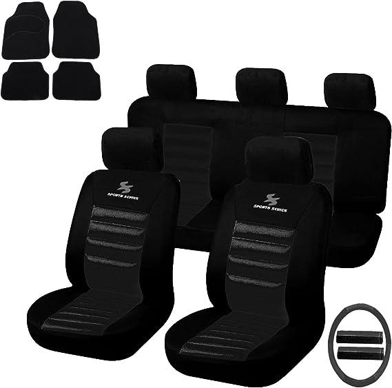 Esituro Universal Sitzbezüge Für Auto Schonbezug Mit 4 Teillige Fußmatten Scms0039 X Auto
