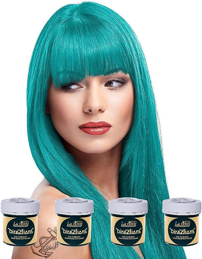La Riche Directions Pack de 4 tintes semipermanentes para el pelo (4 x 88 ml) – Turquesa por La Riche Directions
