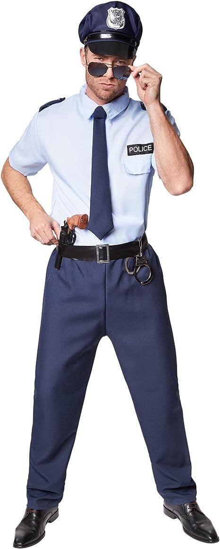 TecTake dressforfun Disfraz de policía para Hombre | Incl. Corbata ...
