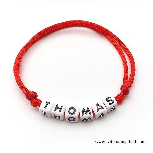 meilleures chaussures styles divers nouvelle version Bracelet THOMAS personnalisé avec prénom (réversible) homme, femme, enfant,  bébé, nouveau,né.