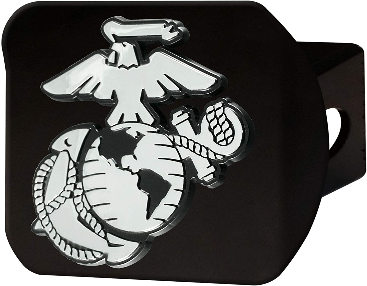 1 Pack FANMATS 22698 U.S Marines Black Hitch Cover