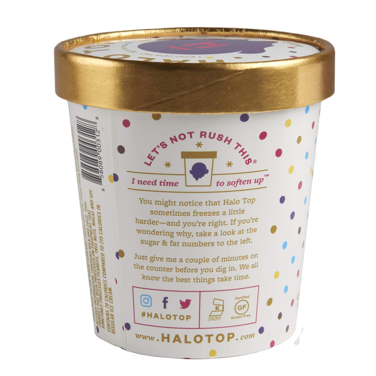 Halo Top Light Ice Cream Birthday Cake 16 Oz Frozen Amazon Grocery Gourmet Food