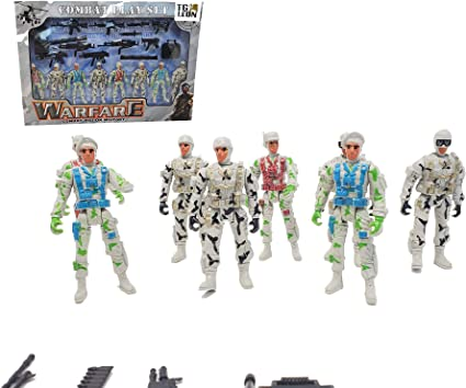 Army Toy Soldiers US Action Figures with Weapons and Accessories  8 Figures  4'