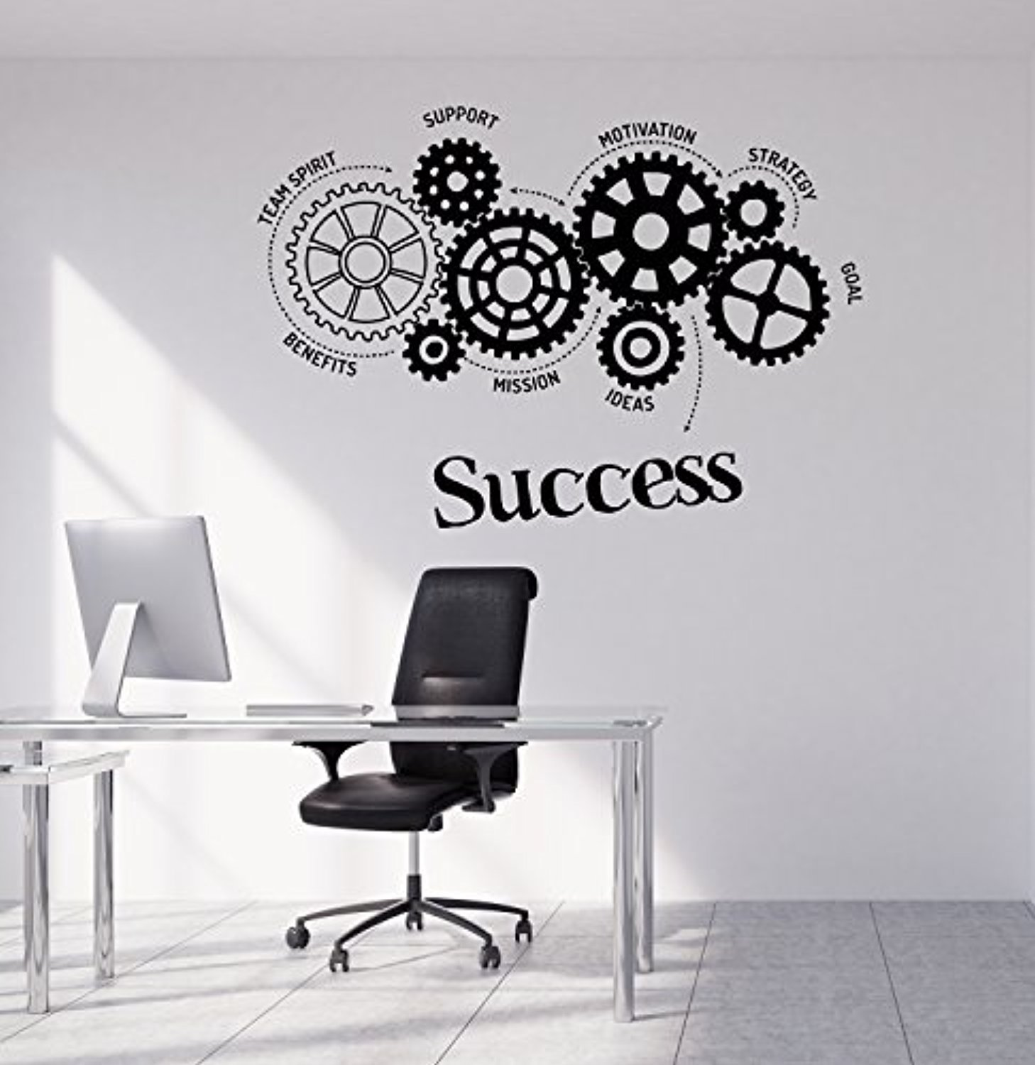 Amazon com art of decals amazing home decor large vinyl wall decal success words gears office motivation stickers large decor made in the usa removable