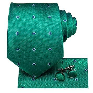 FDHFC 8.5Cm 100% Seda Hombres Luz Verde Corbata Punto Punto ...