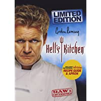 Gordon Ramsay,Hell's Kitchen 9 DVD set including embroidered Apron and The Official Recipe Book
