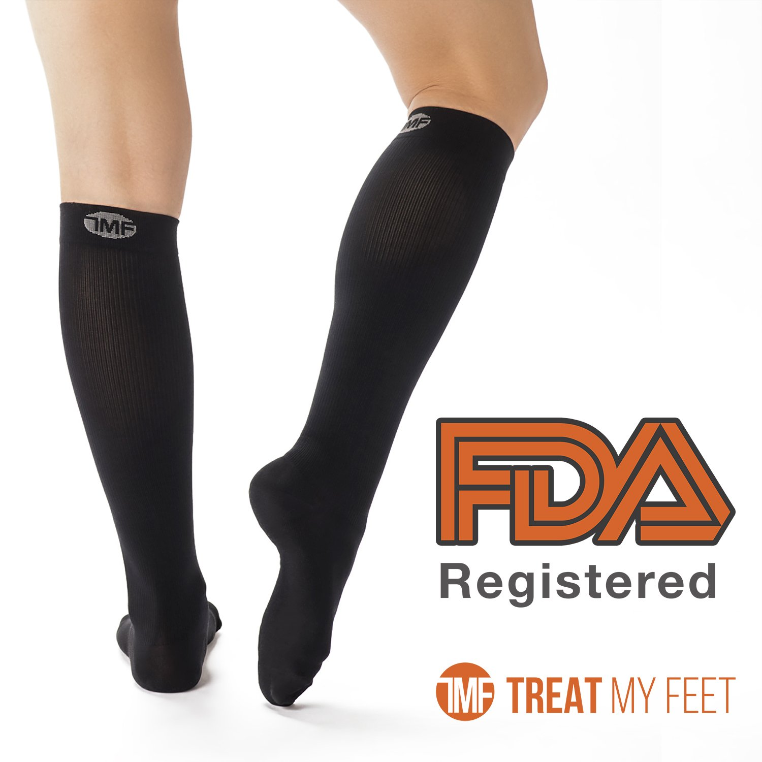 f01cdb481 Compression Socks for Men & Women - Knee-high compression stockings relieve  calf, leg & foot pain - Graduated to boost circulation & reduce edema  swelling ...