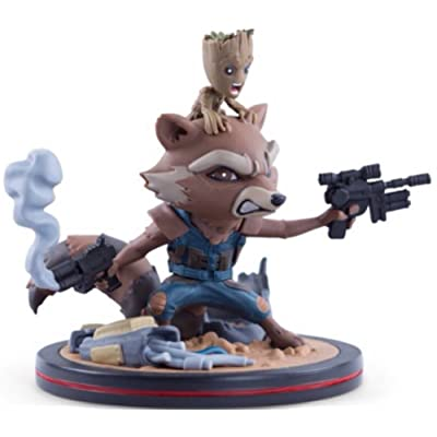 Marvel's Guardians of the Galaxy Vol.2 Rocket & Groot Q-Fig by Quantum Mechanix Qmx: Toys & Games