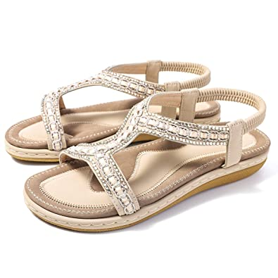 22382143faca2c gracosy Womens Flat Sandals