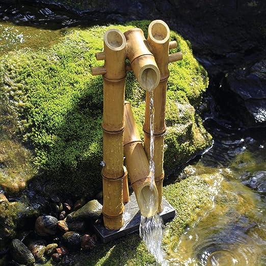 Aquascape bambú Fuente para estanques, Recipiente para Agua ...