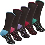 Womens Cottonique Ladies 5 Pack Chaussettes riches en coton 4-8