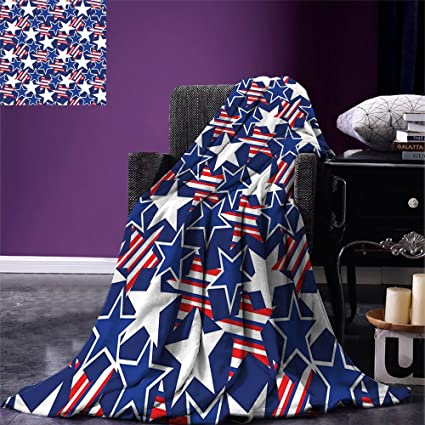 Amazon Smallbeefly 40th Of July Throw Blanket Stars And Stripes Best Stars And Stripes Throw Blanket