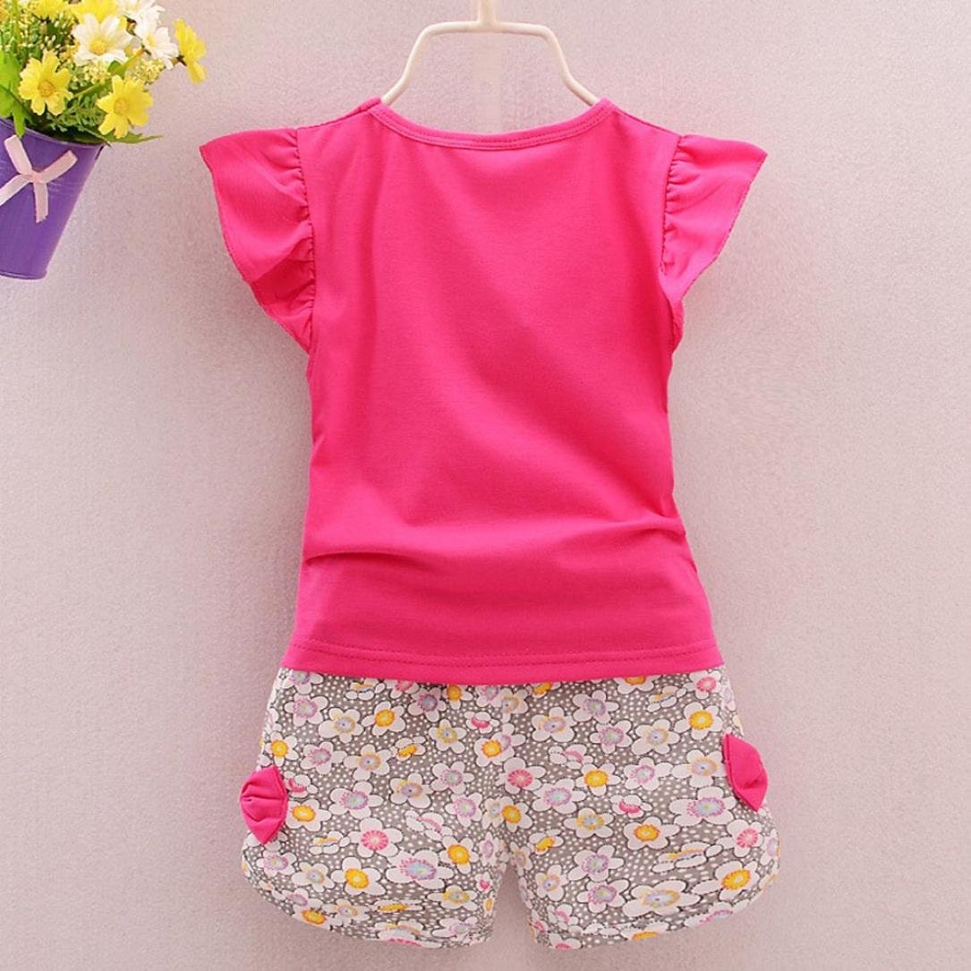2fe9534c59b3b Hot!! Hot!! for 1-4 Years Old Girl Clothes Set//2PCS Toddler Kids Girls  Outfits Clothes Lolly T-Shirt Tops+Short Pants