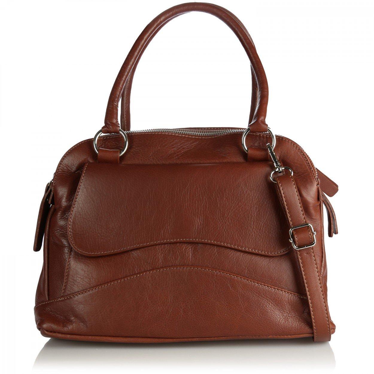 Olivia - Sac à main femme Cuir De Vachette'SUZI' + Organiseur de sac à main - Marron, Cuir 1143+OR