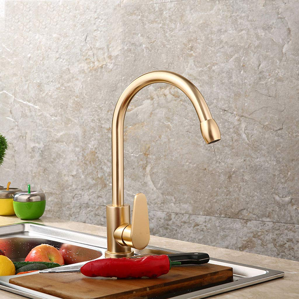 LXKY Kitchen faucet - sink hot and cold mixing faucet for kitchen and bathroom, space aluminum