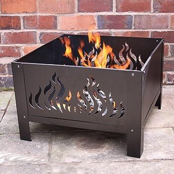 Gran jardín estufa con diseño de llamas – al aire libre Fire Pit Ideal para mantenerte