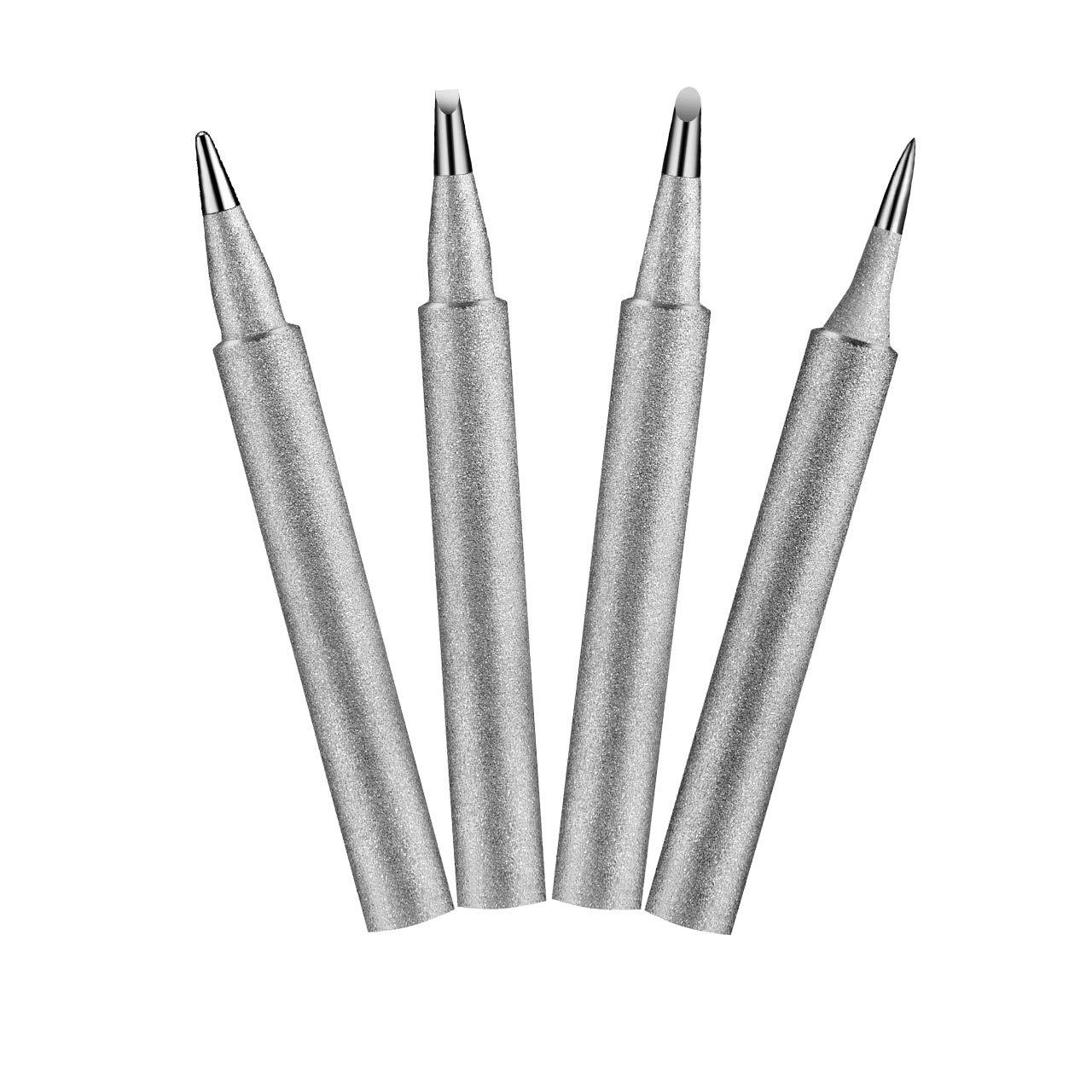 TOPELEK 4Pcs Replacement Soldering Iron Tips