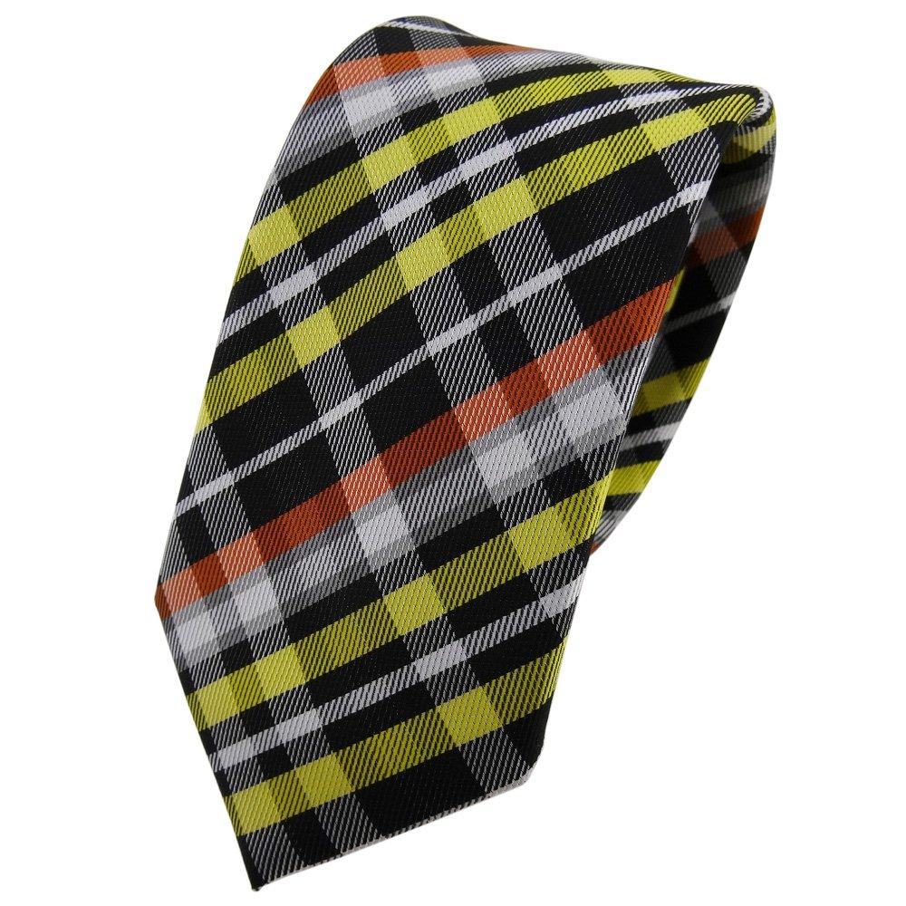 TigerTie - corbata estrecha - amarillo naranja gris negro plata a ...