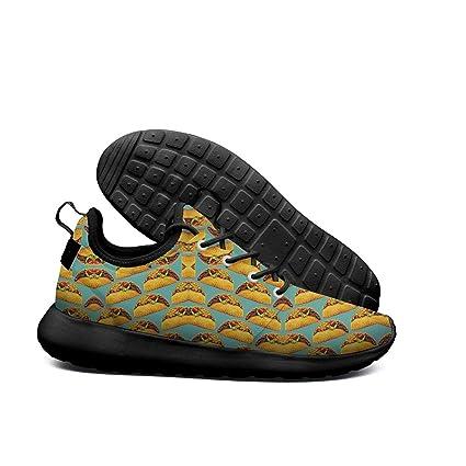 DDIIEEDD Taco Pattern - Zapatillas Deportivas para Hombre (Ligeras)